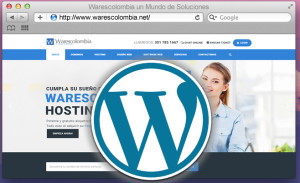 Ventana navejador hosting wordpress